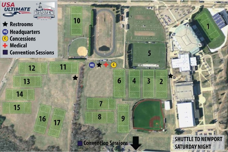 Event Field Map Play USA Ultimate - Us open map