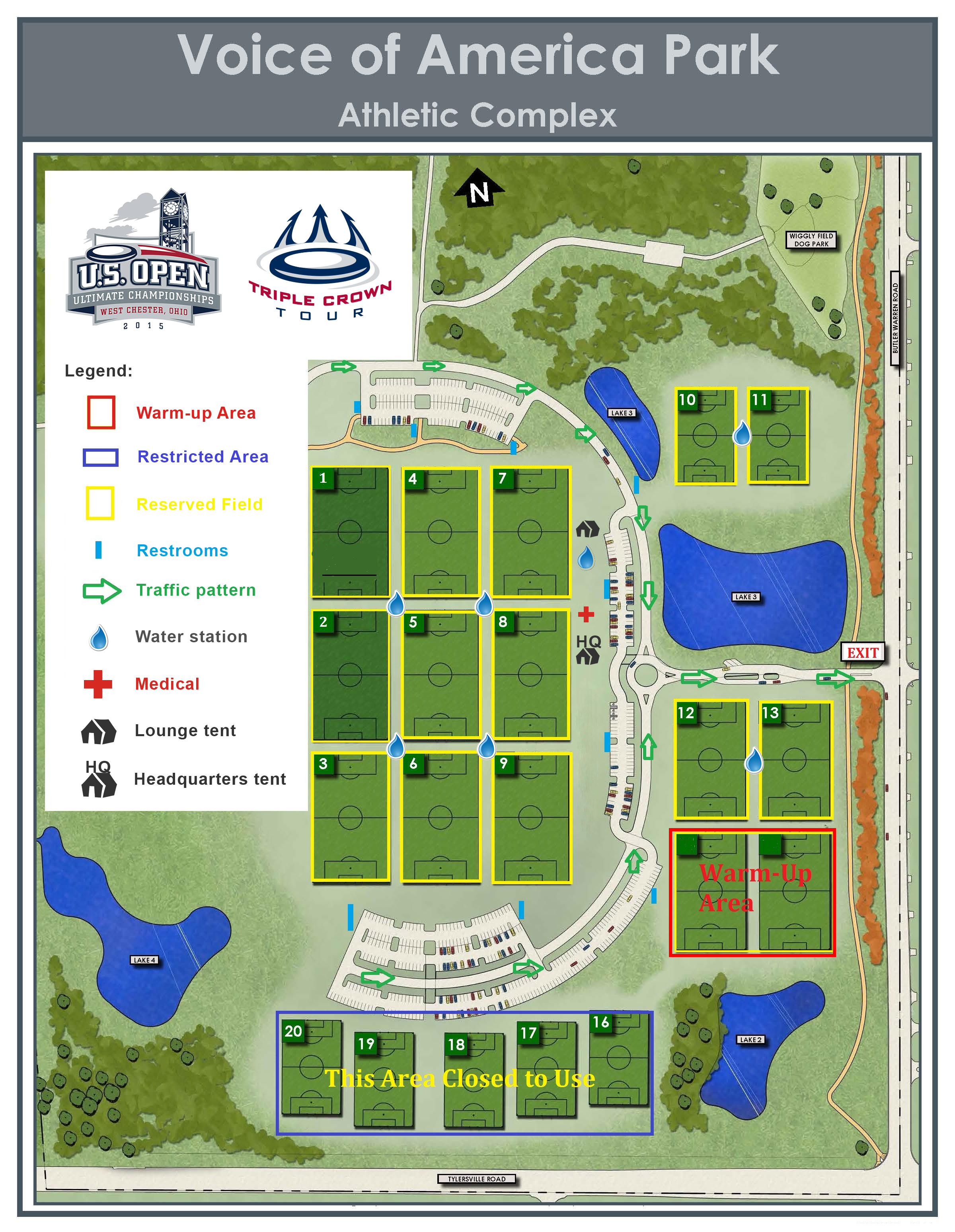 Event Field Map Play USA Ultimate - Map of us open